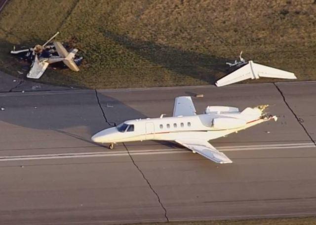 美国印第安纳州一机场内两飞机相撞 至少两人死