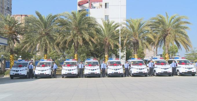 漳州东山县新增16部警用车辆投入使用