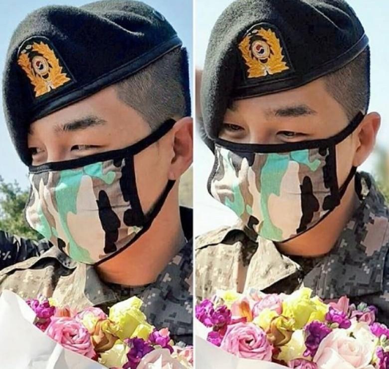 Bigbang太阳参加新兵结业礼 戴口罩难掩倦容(图)
