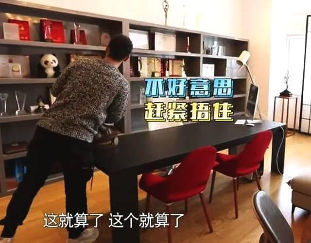 黄晓明豪华办公室首曝光,一面墙几十平,桌上雕像让他慎的慌