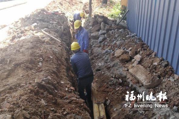滨海新城输气主干管余150米尚未完工 有望6月通气