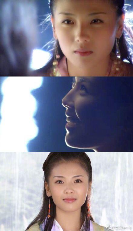 刘涛晒18年前剧照,脸上的眉毛变化太明显,画得越来越粗了