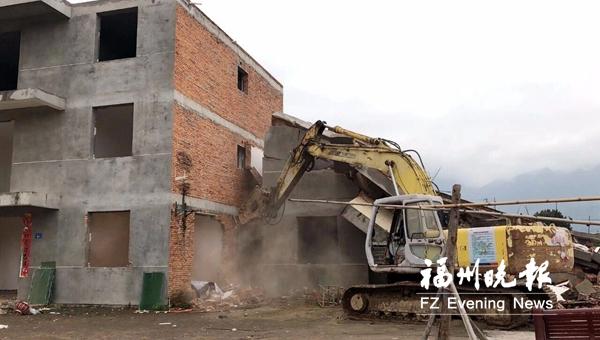 """福州高新区力普海洋项目近期开工 依法拆除""""钉子""""违建"""