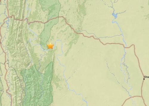 缅甸西部地区发生5.2级地震 震源深度105.8公里