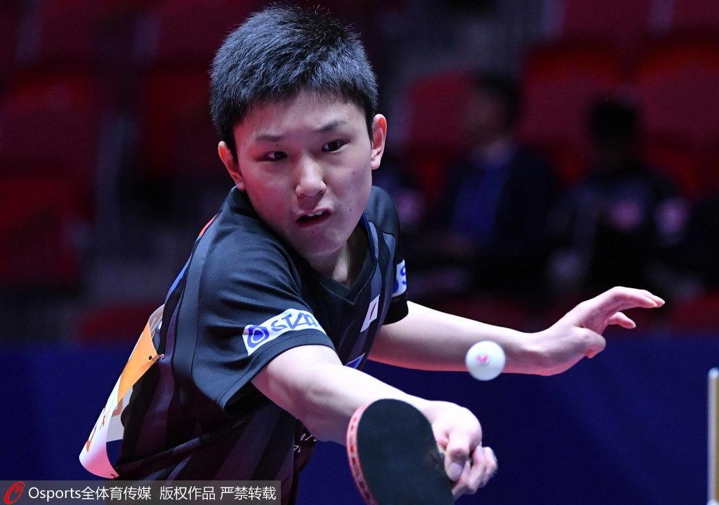 世乒赛:张本率日本3-0胜将战韩国 中国对决奥地利
