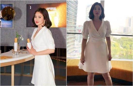 宋慧乔幸福胖再被疑怀孕 白洋装亮相似二十岁年轻姑娘