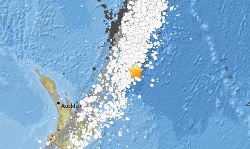 新西兰克马德克群岛发生6.2级地震 震源深度10公里