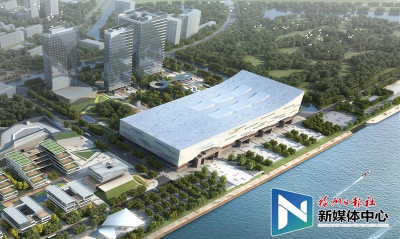 福州数字中国会展中心效果图出炉 犹如水上巨轮