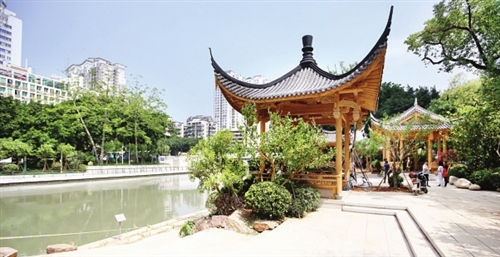 福州晋安河:精华景观带浓浓古典范