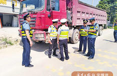 """宁德蕉城区一货车""""增身高"""" 超载百分百 司机被罚1500扣6分"""