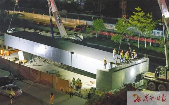 莆田:荔城大道与荔园路立交桥进入桥梁上部结构施工