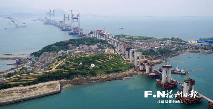 平潭海峡公铁两用大桥最后一座主塔有望下月封顶