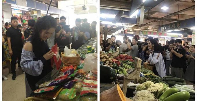 谢娜市场买菜被偶遇 谢娜手里抱着的孩子是谁的?