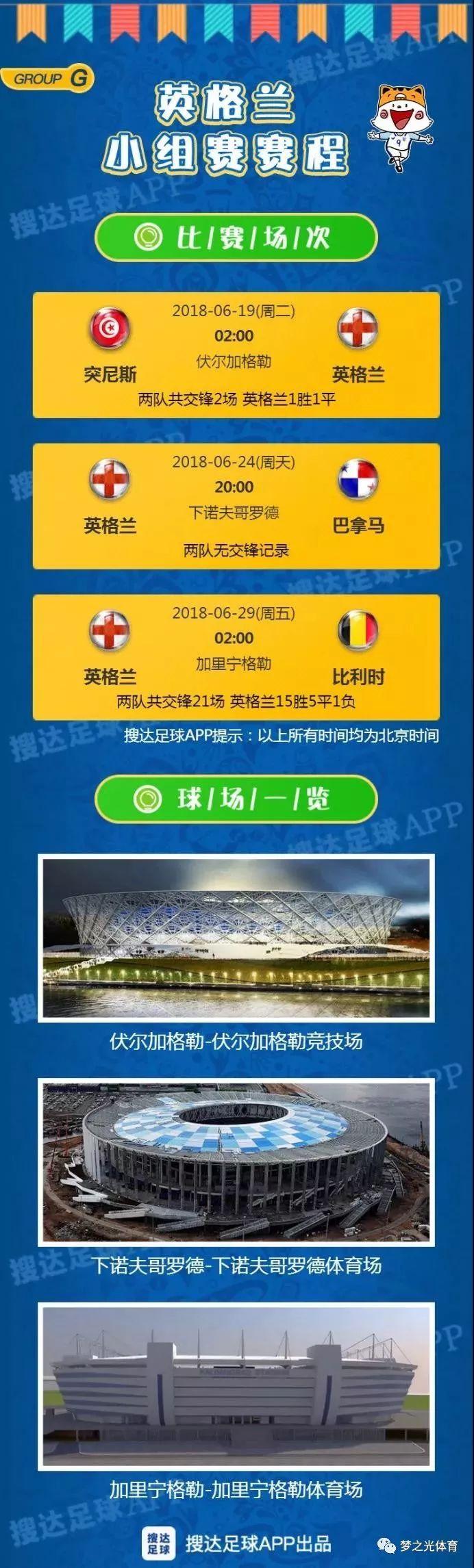 2018俄罗斯世界杯完整赛程表北京时间 2018世界杯32强