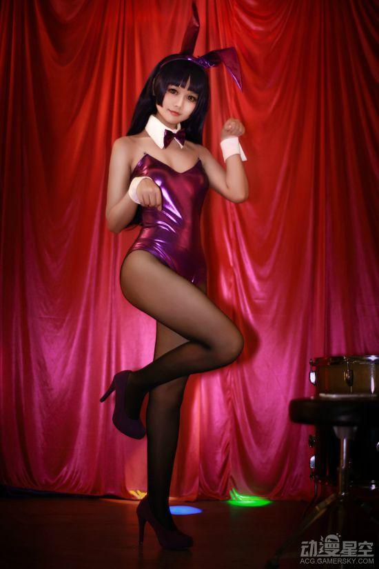 《我的妹妹》五更琉璃性感COSER 黑丝泳装兔女郎
