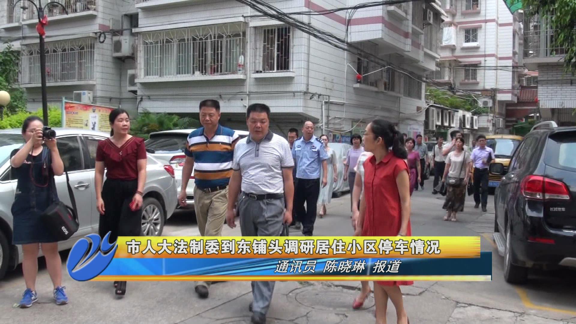 漳州市人大法制委到东铺头调研居住小区停车情况