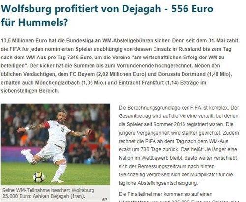 FIFA让德国诸队皆获利 德甲将获约1350万欧元巨额补助