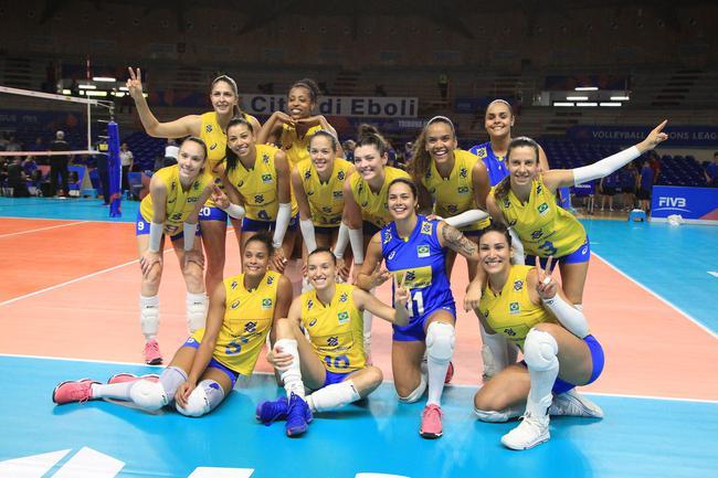 世界女排联赛巴西女排提前进总决赛 意俄波3强齐夺开门红