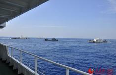 福建保持海上打击违法高压态势 海洋执法船编队雷霆出击