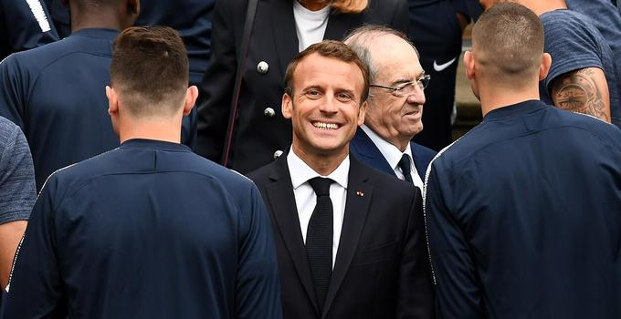 马克龙世界杯前谈足球 称自己球场上不轻言放弃
