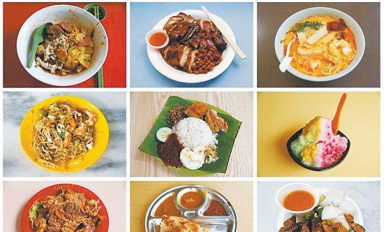 新加坡人解馋就去小贩中心 低廉价格待八方来客
