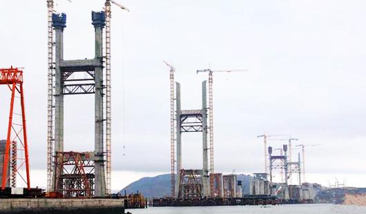 平潭海峡公铁大桥全部主塔完成封顶