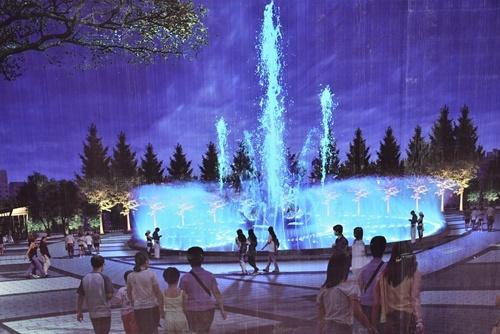 南平顺昌人有福了,音乐喷泉广场将在7月底前竣工投用