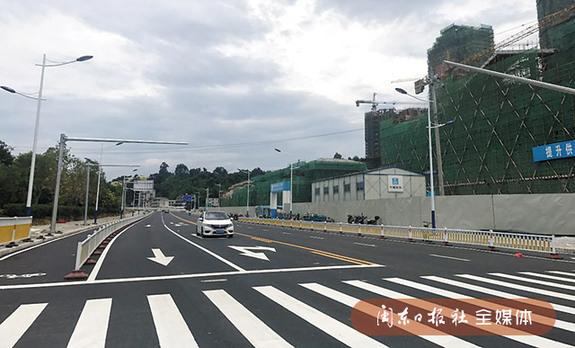 宁德市区南湖滨路沥青铺设完毕 金马大桥3日起恢复通车