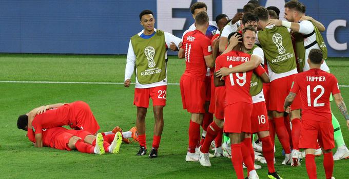 世界杯:哥伦比亚4-5英格兰