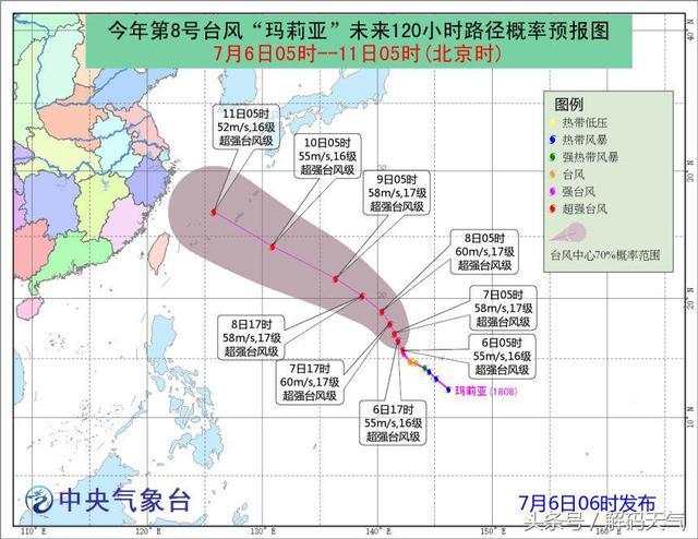 """""""玛莉亚""""急速增强为超强台风,下周登陆华东沿海概率加大"""