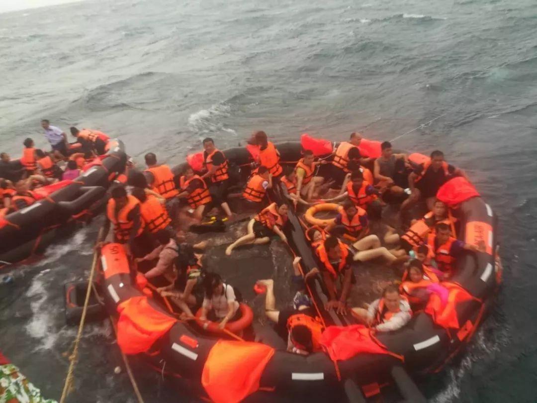 船只倾覆,50名中国游客在泰国普吉海域失踪一人溺亡