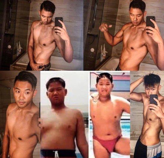 陈建州晒今昔对比照分享减肥经历 网友直呼励志