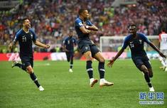 法国队时隔20年再夺冠 刘嘉玲携侄子俄罗斯现场观战