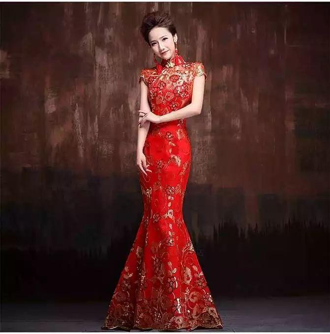 复古时尚红旗袍 为中式婚礼增光添彩!