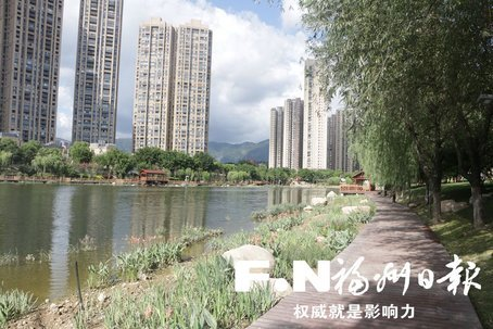 福州琴亭湖公园完成景观改造工作 月底重新开放