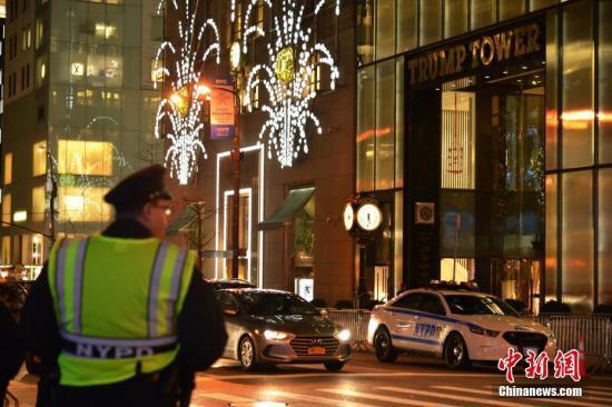 纽约特朗普大厦现不明包裹 警方称非爆炸物