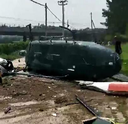 北京市一样架直升机疑似坠毁 时下任伤亡报告