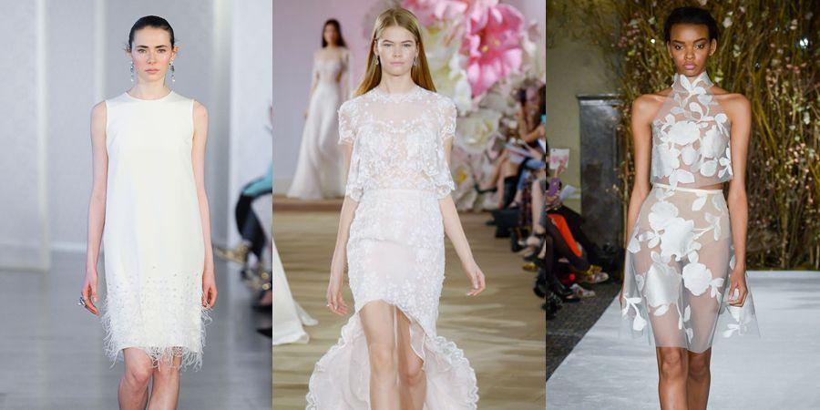 摆脱夏日婚礼的闷热感!时髦女孩的13件短婚纱选择