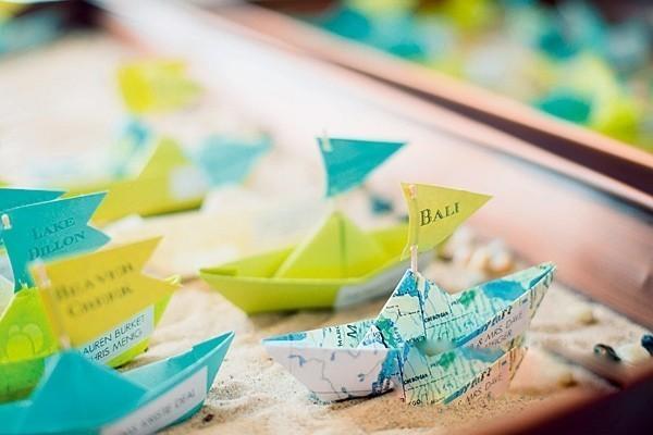 夏日清爽创意座位卡 让婚礼一秒钟变有趣