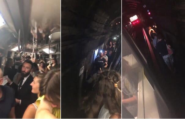 巴黎地铁停电:车厢温度40度,逾3000乘客摸黑走出地铁站