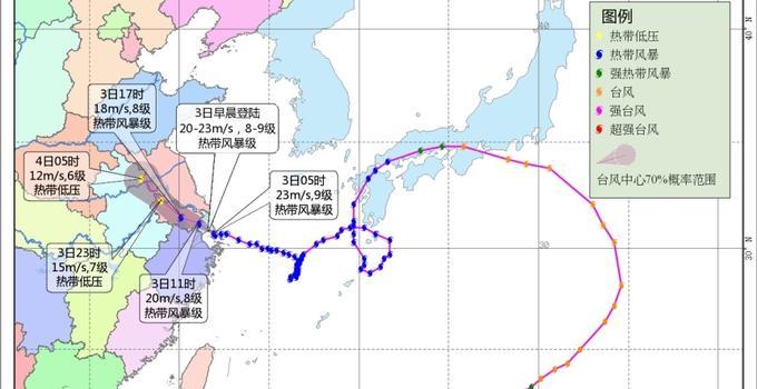 """台风""""云雀""""将于今天上午在上海到浙江沿海登陆"""