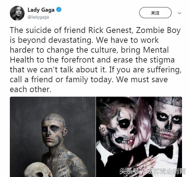 Rick Genest自杀 Rick Genest是谁个人资料照片死因是什么