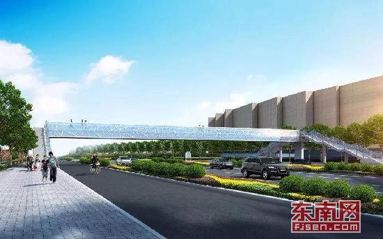 漳州龙文万达广场将建天桥 横跨九龙大道至综合市场