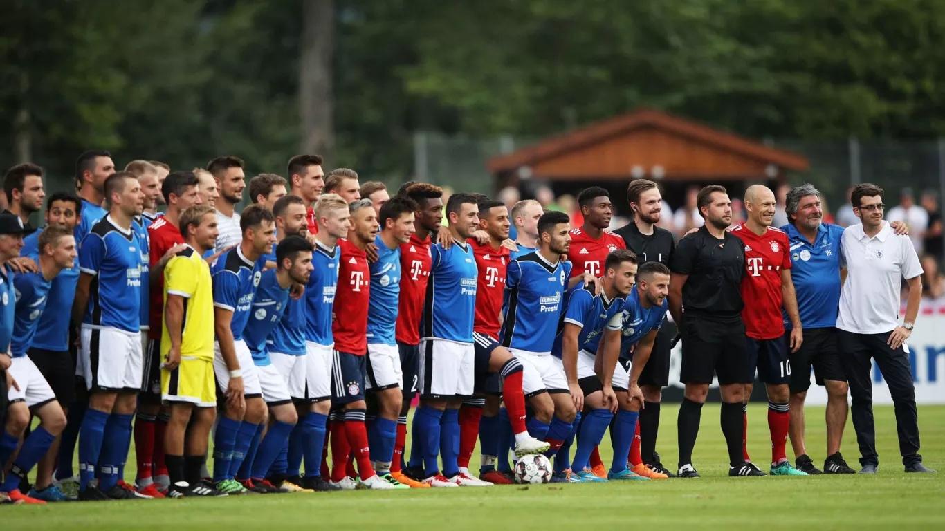 拜仁20-2屠弱旅 非友尽赛 赛后所有人都在笑