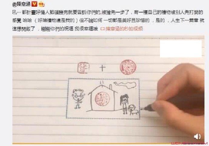 陈意涵宣布怀孕男友正面照曝光 交往47个男友后终寻好归属