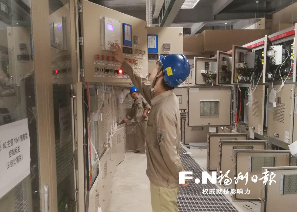 福州滨海新城四站变电站进入调试阶段 采用机器人巡检