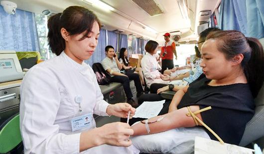 福建福州:无偿献血 奉献爱心