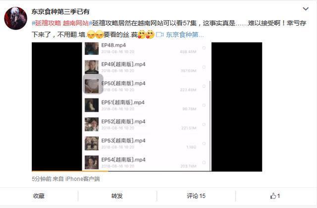 《延禧攻略》泄露,有网友发现越南已经更新到了69集了!