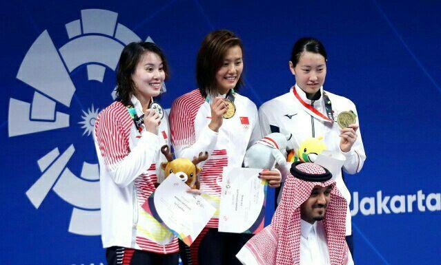 混合泳中国夺冠 亚运会傅园慧再次卫冕失败
