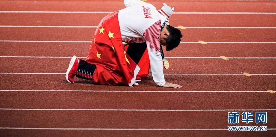 苏炳添百米夺冠 亚运会田径男子100米决赛苏炳